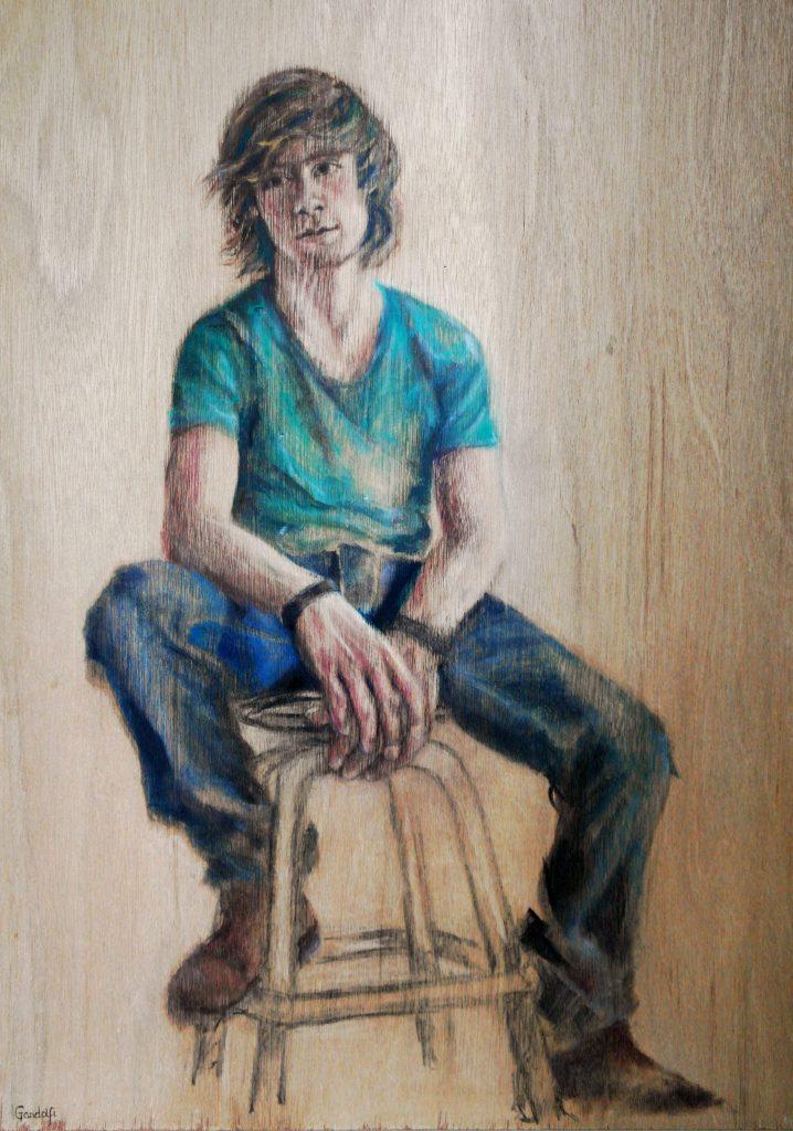 Thijs-op-kruk-olieverf-portret