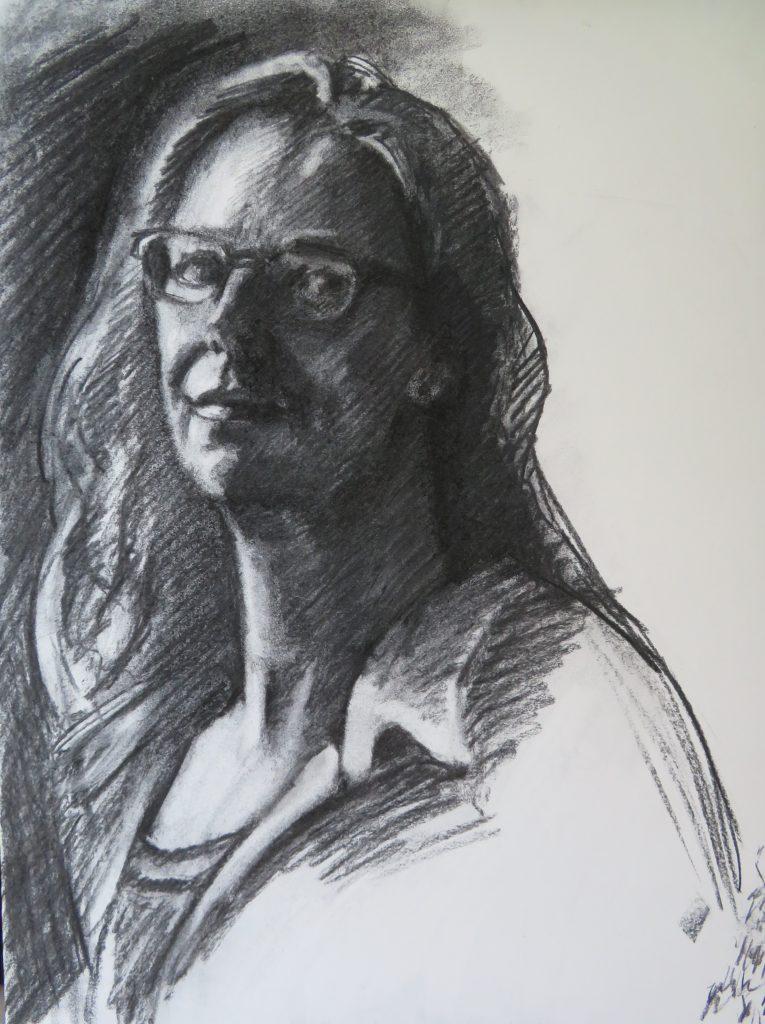 Zelfportret - Helene Gandolfi