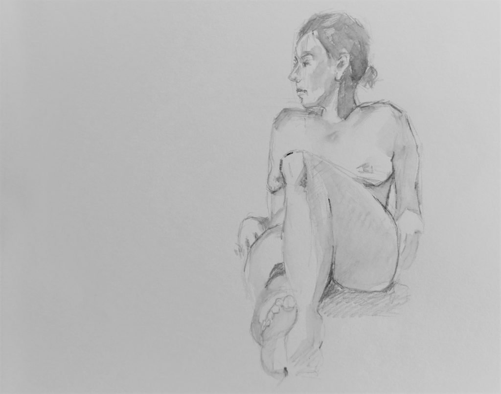 schets-liggend-vrouwelijk-naakt-met-opgetrokken-knie