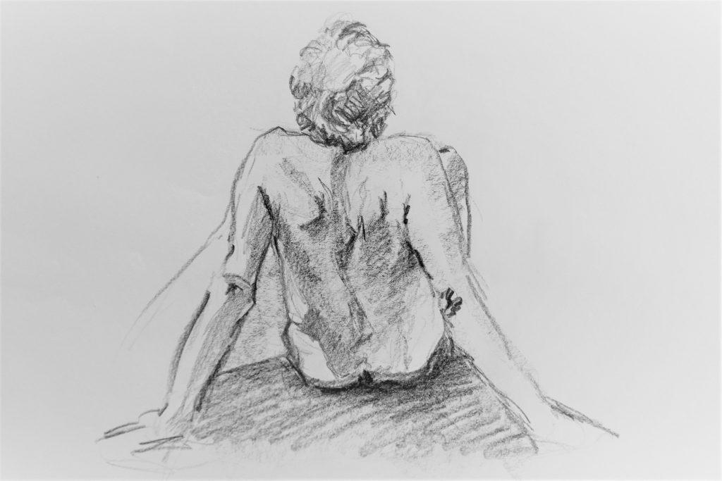 schets-van-zittend-mannelijk-naaktmodel-op-de-rug-steunend-op-handen