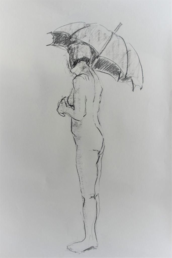 schets-vrouwelijk-naakt-met-uitgevouwen-paraplu